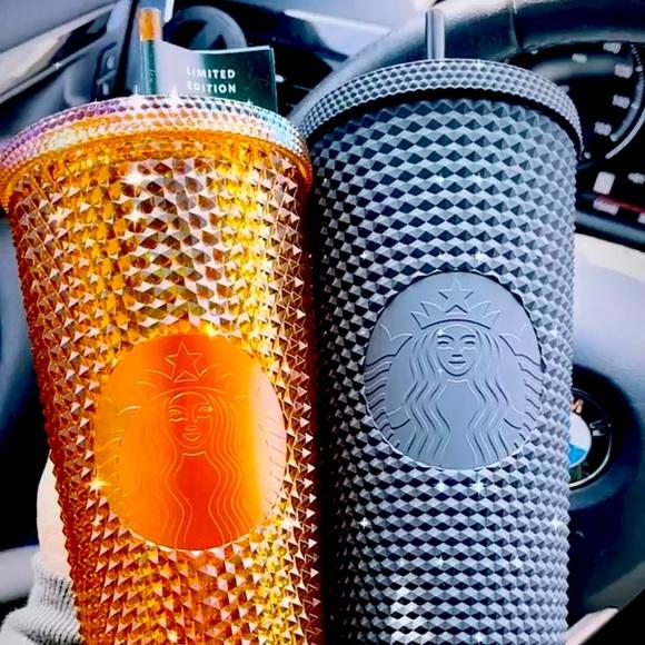 Starbucks Gold Studded Honeycomb and Black Venti